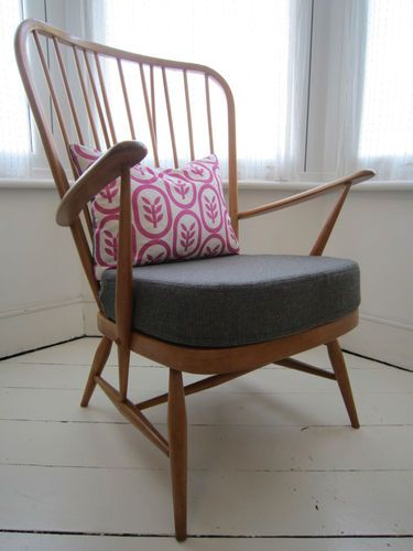 Vintage Ercol High-Backed Windsor Armchair | eBay