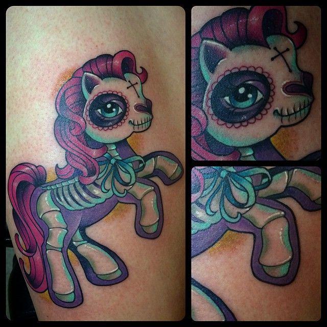 My little pony Sugar skull tattoo