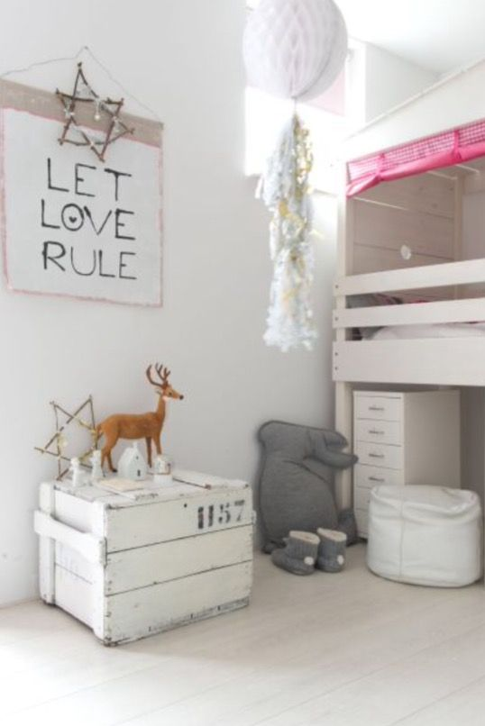 """This lovely girl's bedroom is from our feature """"December Fun"""""""