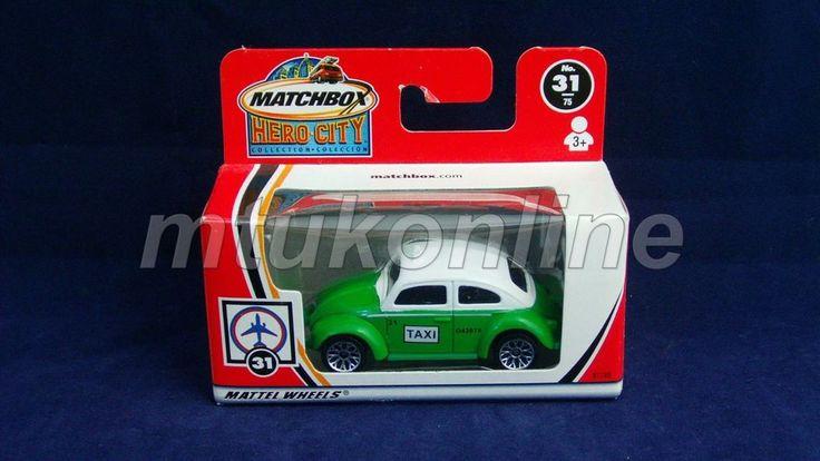 MATCHBOX 2002 VOLKSWAGEN BEETLE TAXI | 1/58 | CHINA | HERO CITY 31 | 97785