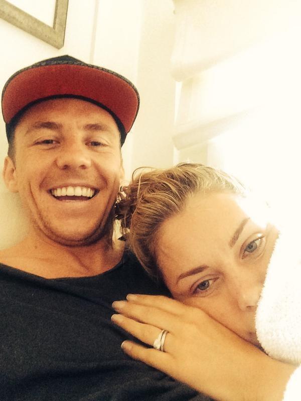 Danny and Georgia looking very happy on their honeymoon!