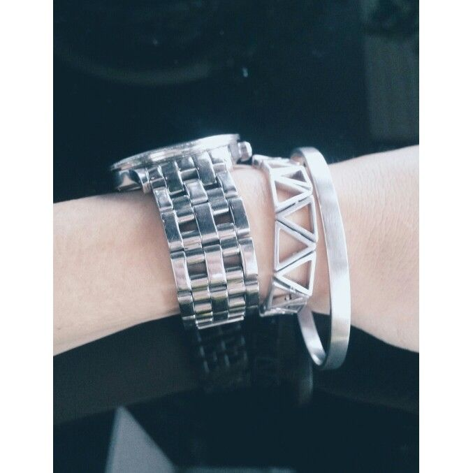 Want to be fashionable with an edge? - Style your watch with our Suture Bracelet and Felicity Bangle in sterling silver