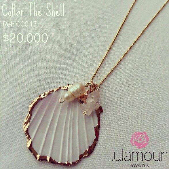 The Shell necklace. Natural shell, pearl and pink quartz. More on @lulamourr on instagram And Lulamour Accesorios on Facebook. Colombian brand
