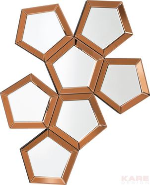 Miroir Pentagon 110x84cm  Unité 379,00 € Dimensions: 1,104 x 0,835 x 0,028 m Poids: 12 kg Référence de l´article: 78195