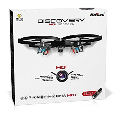 UDI 818A HD+ RC Quadcopter Drone with HD Camera, and Headless Mode - 2.4GHz 6 Axis RTF - Includes BONUS BATTERY + POWER BANK - for extended fly time - http://droneanything.com/udi-818a-hd-rc-quadcopter-drone-with-hd-camera-and-headless-mode/
