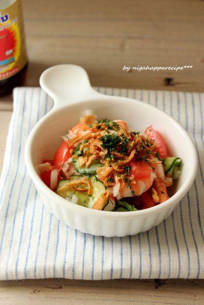 新玉ねぎとトマトのアジアン風サラダ by にがはっぱさん   レシピ ...