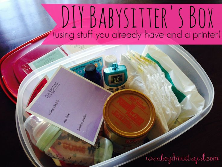 DIY Babysitter's Box (using stuff you already have and your printer) {Free Printables Included!}