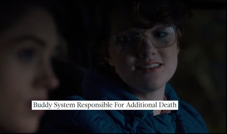 Stranger Things as The Onion headlines (Barb Holland and Nancy Wheeler)