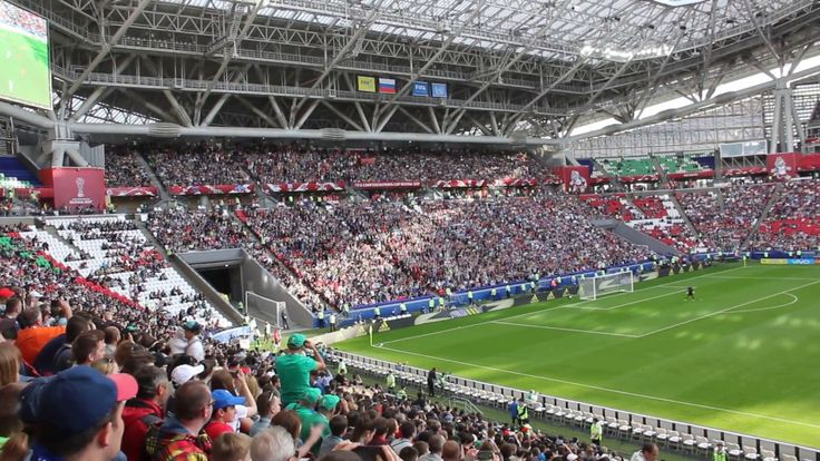 Волна во время матча Португалия - Мексика на Казань-Арене #кк2017