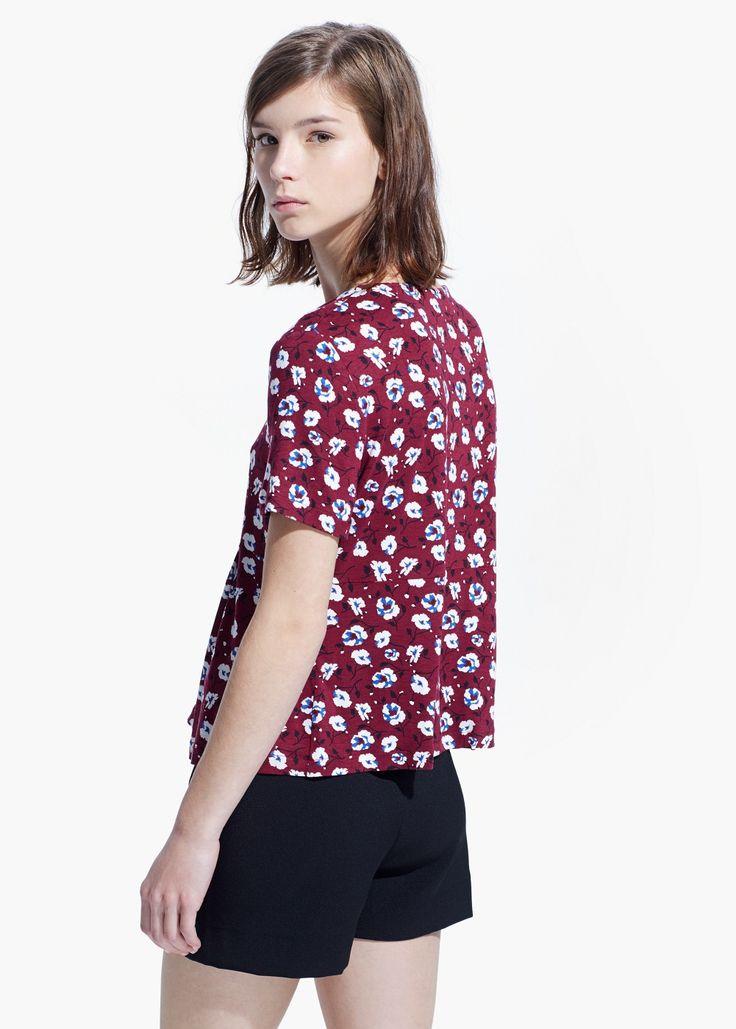 Koszulka kwiatowy wzór i zakładki