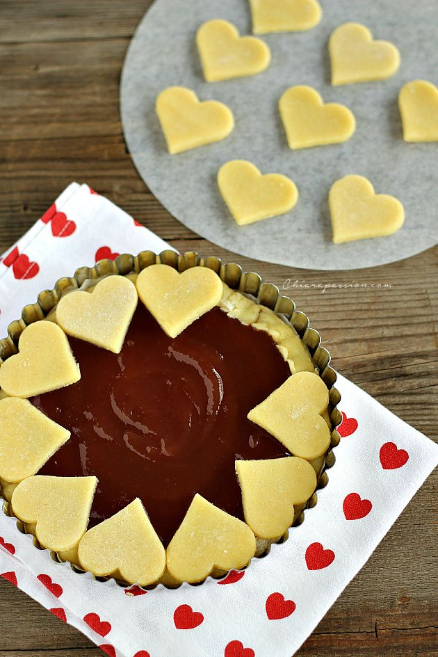Crostata di cuori, Heart pie | Chiarapassion