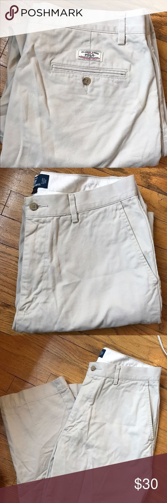 Men's Polo Ralph Lauren Classic Chinos Men's Polo Ralph Lauren Classic Chinos Khaki/Tan Color Size 33W 30L Polo by Ralph Lauren Pants Chinos & Khakis
