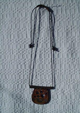 necklace with ceramic handmade pendant