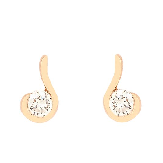 18 CARAT ROSE GOLD DIAMOND STUDS