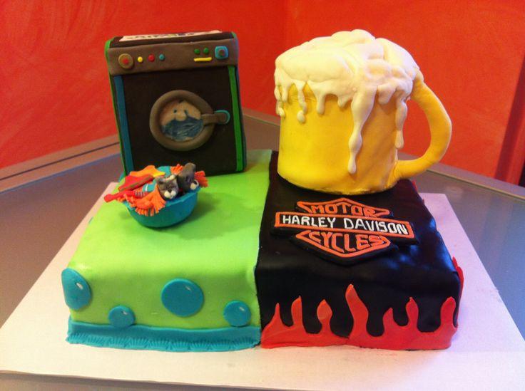 Birra e lavatrice - Cake Design