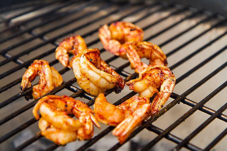 BBQ grilled shrimps