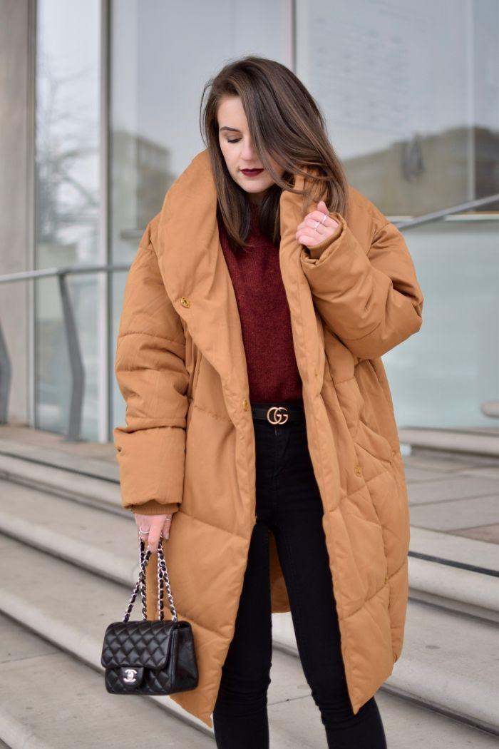monki mantel, woodwood pullover & Gucci Gürtel