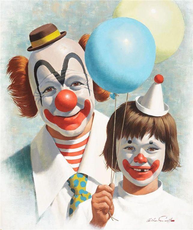 arthur-saron-sarnoff-7Happy Clowns, Drawing Art, Arthur Saron, Clowns Happy, Circus Clowns, Sarnoff Clowns, Clowns Drawing, Clowns Art, Arthur Sarnoff
