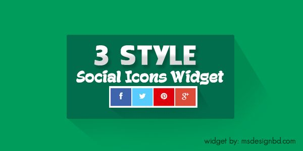 blogger widgets social buttons