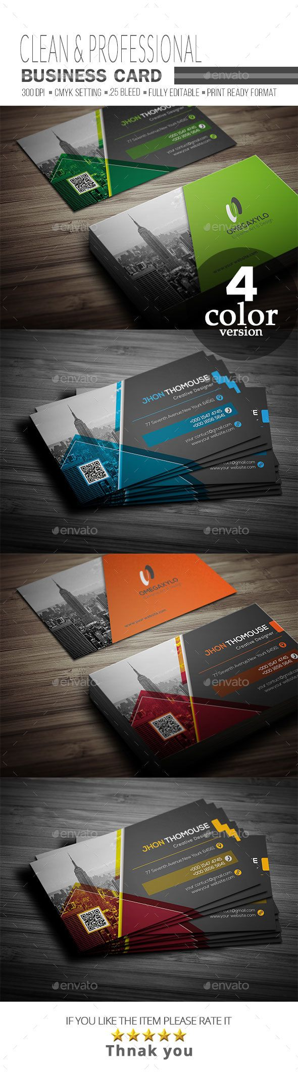 #Business #Card - Corporate Business Cards Download here: https://graphicriver.net/item/business-card/20365284?ref=alena994