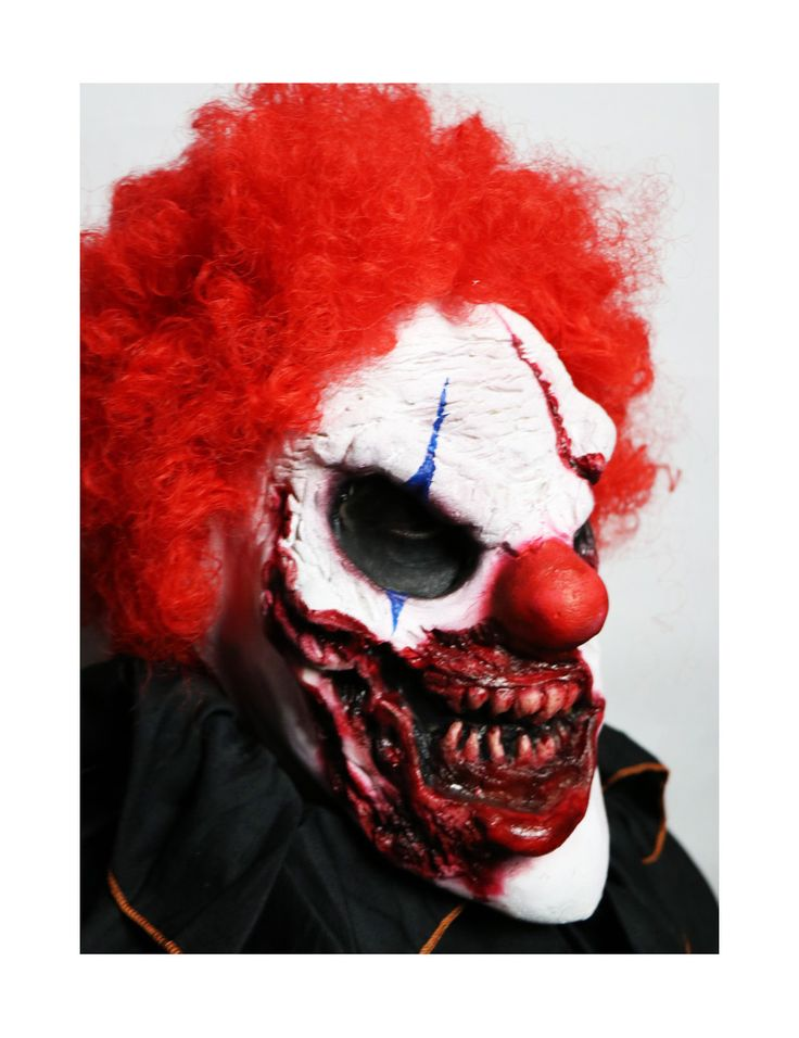 Scary Clown Mask Prosthetic Zombie Clown Mask Zombie Clown Costume For Sale - Available at www.JaneDoeFX.com