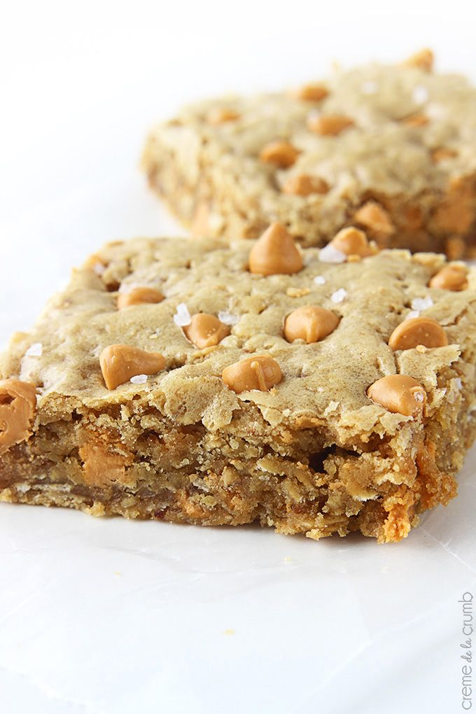 Oatmeal Butterscotch Blondies
