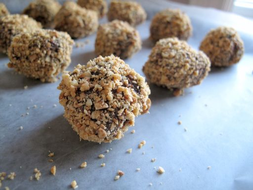 Real chocolate truffles that melt in your mouth. Hazelnut flavored. # ...