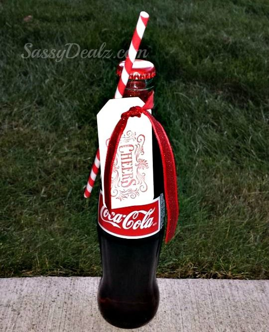 Cola bottle, paper straw and a tag! This would be a cool invitation!