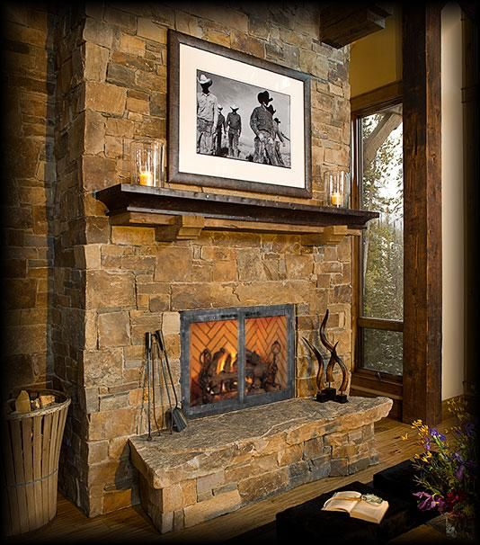 Image detail for -Sawtooth B-Vent Gas Fireplace in Old World Style ...