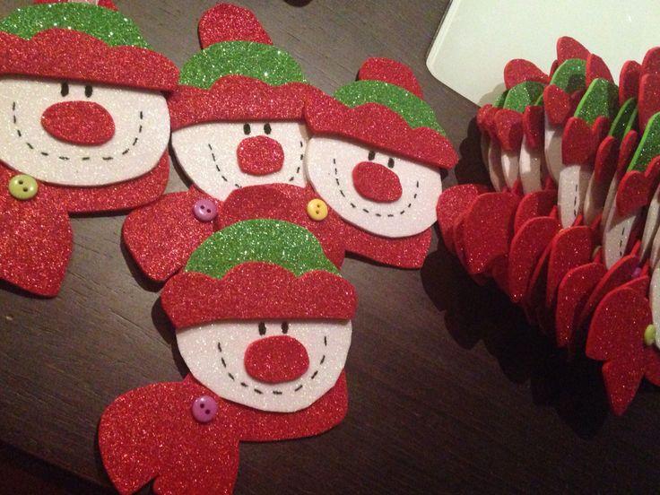 Adorno para el árbol de Navidad! Muñecos de nieve!!!                                                                                                                                                                                 Más