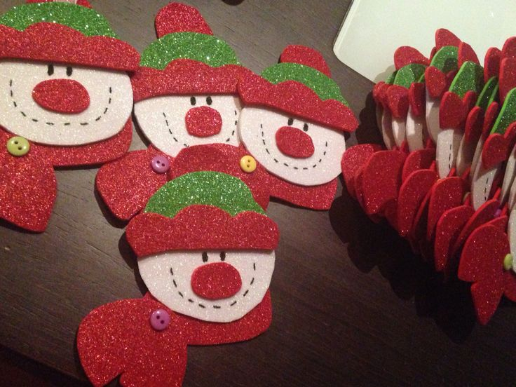 Adorno para el árbol de Navidad! Muñecos de nieve!!!