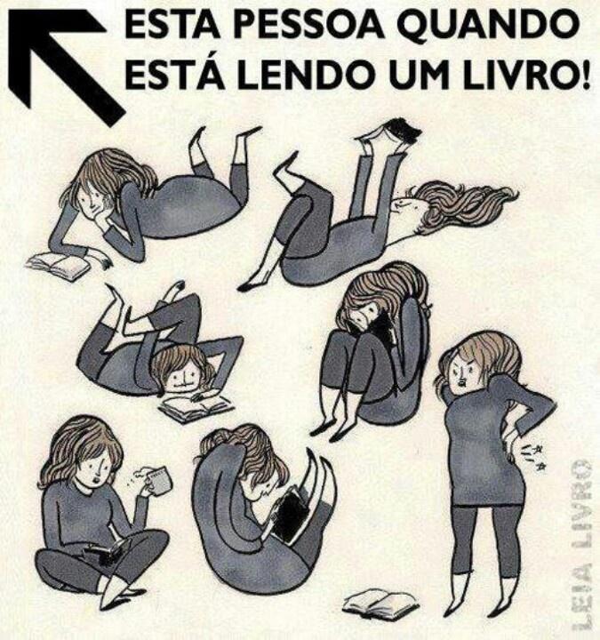 Lendo livro
