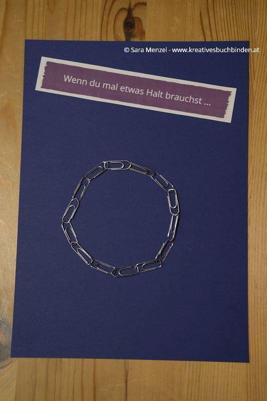 """Wenn-Buch """"Wenn du mal Halt brauchst..."""" Büroklammern Wenn-Buch Anleitung   Wenn-Buch Vorlage   Bastelanleitung"""