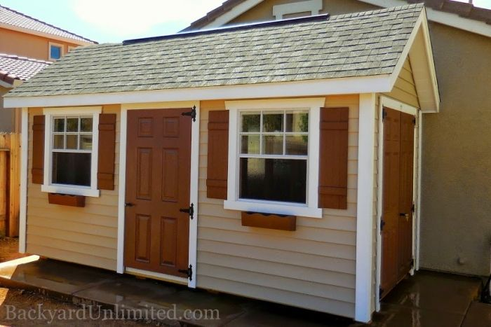 8x15 Garden Shed With Vinyl Siding 30 Quot X36 Quot Windows