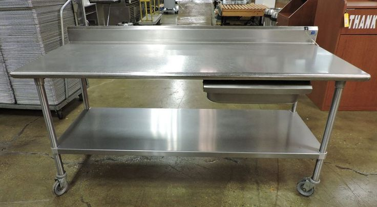 Stainless Steel Work Table w/ Drawer, Undershelf, & Backsplash 72 x 30