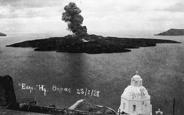 Volcano eruption @ Santorini,1928