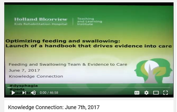 Launch Of A Pediatric Feeding And Swallowing Assessment Management For Clinicians Eg Occupational Therapists