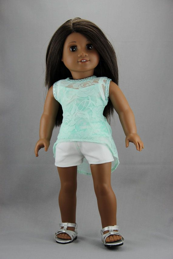 American Girl doll clothes  High low tank top by DolliciousClothes