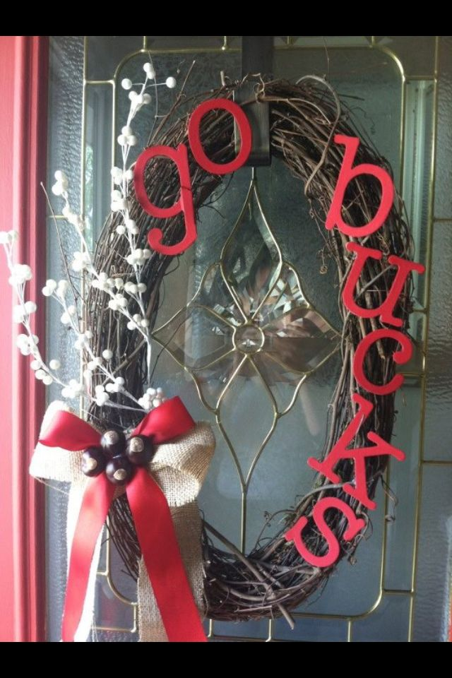 OSU wreath by a FB friend... I will be making this!