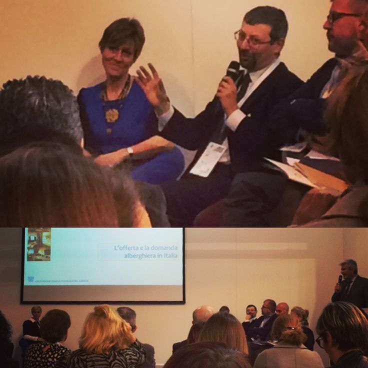 "Our #AIMazing Colleague Daniele Picollo speaking at the presentation of ""Hotel & Chains in Italy 2016"" at BIT Milano"