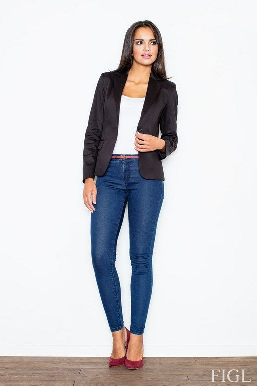 Blazer for Ladies with classic-cut in black