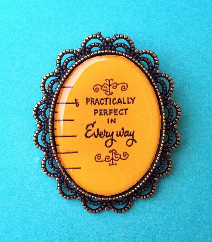 """Handmade """"Practically Perfect in Every Way"""" Mary Poppins Measuring Tape inspired Brooch with Bronze Setting Oval Cameo by FemmeDeBloom on Etsy https://www.etsy.com/listing/247087727/handmade-practically-perfect-in-every"""