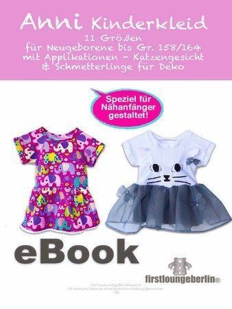ANNI Kids Dress Sommerkleid Babykleid Raglan Kleid 44-164 – Ratz Fatz Sew & Apply …   – Baby Fashion