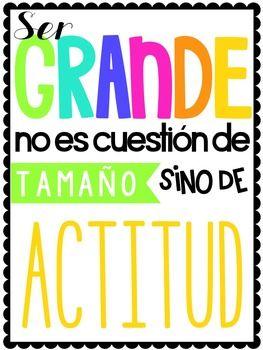 Frases Inspiradoras (Inspirational Quotes in Spanish) Classroom Decor