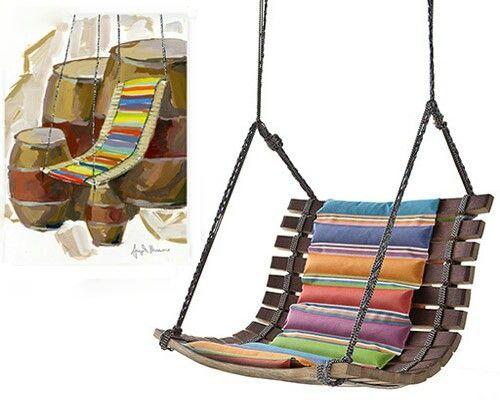 balancelle en palette artesaniasrecicladas recicla palets de madera columpios de madera y. Black Bedroom Furniture Sets. Home Design Ideas