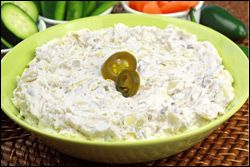 HG's Nice 'n Spicy Artichoke Dip - A no-guilt MUST-HAVE for your Super Bowl Sunday!!