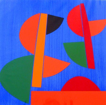 Terry Frost, Swing Red Newlyn on ArtStack #terry-frost #art