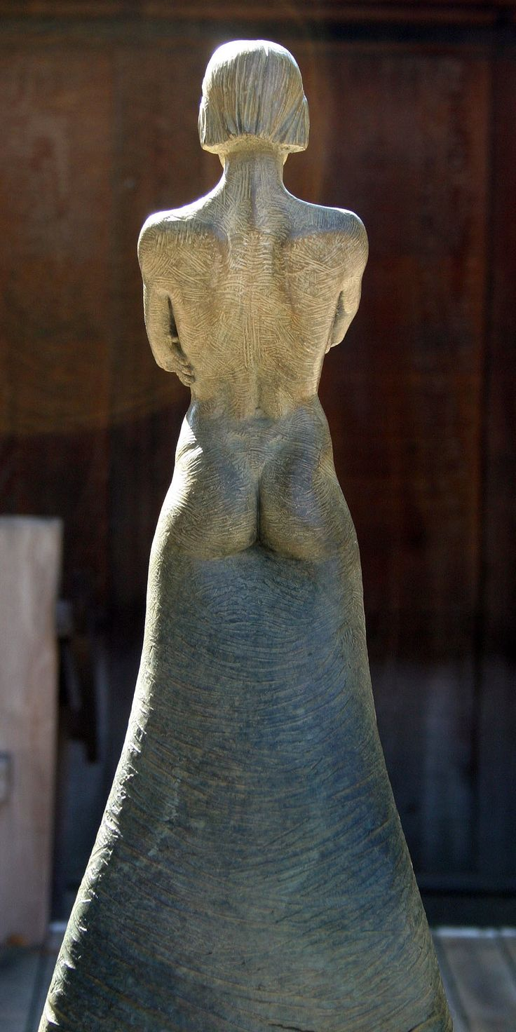 'Force' from Whyte's Stance Series, rear view. Bronze Figurative sculpture by sculptor Steven Whyte, Carmel, California.