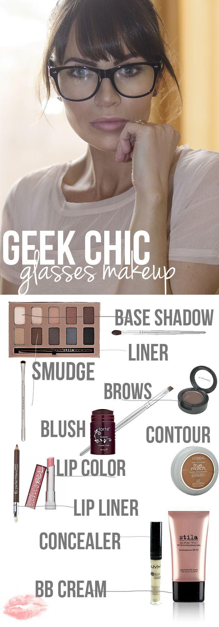 Glasses makeup ideas.