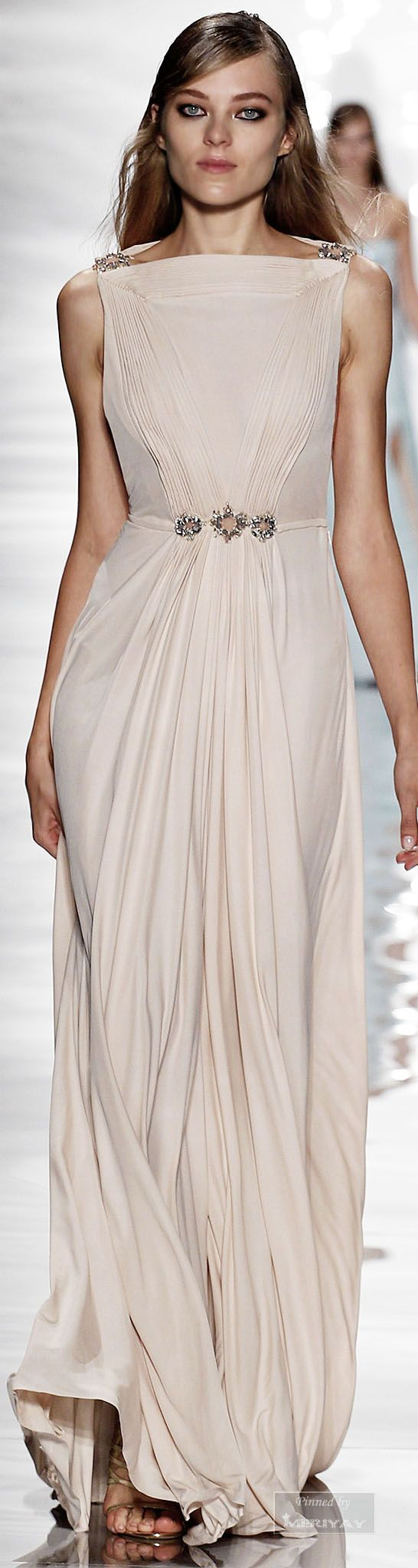 Reem Acra.Spring Summer 2015 § gorgeous Greek column gown primavera #verano…